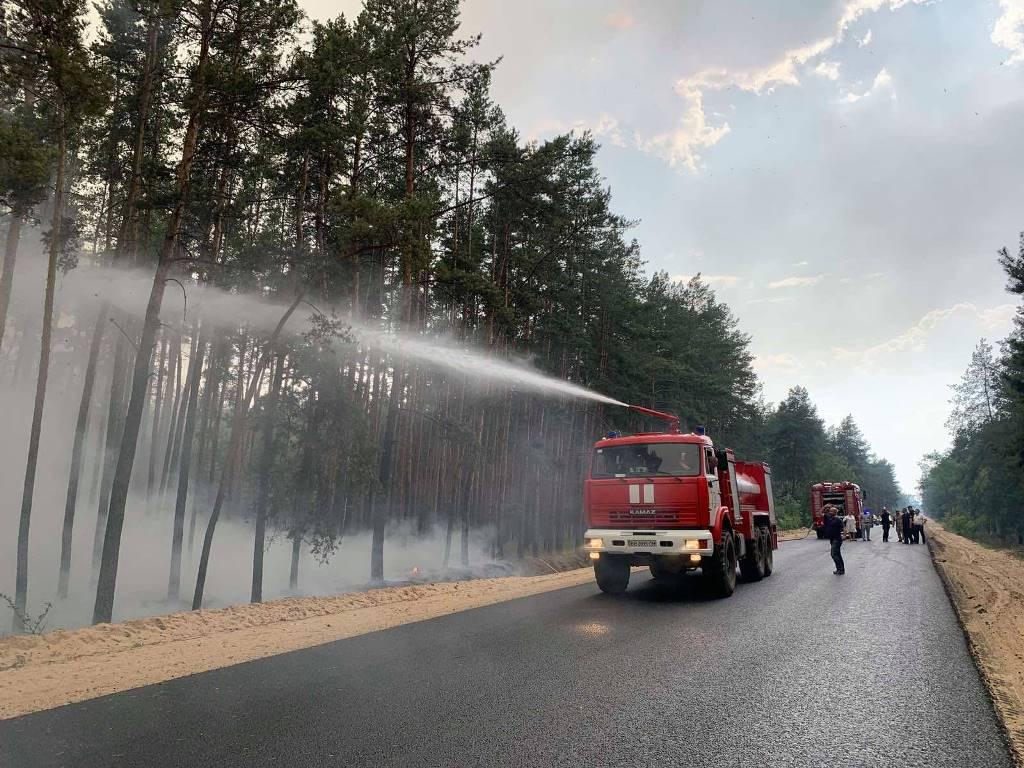 пожар на Донбассе