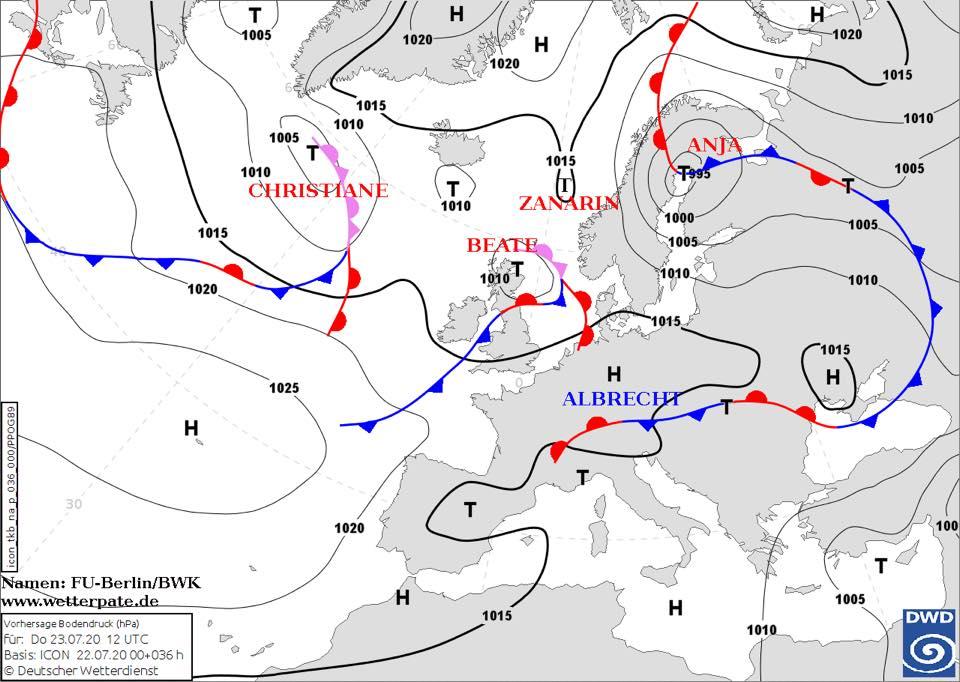 Погода в Украине 22 июля