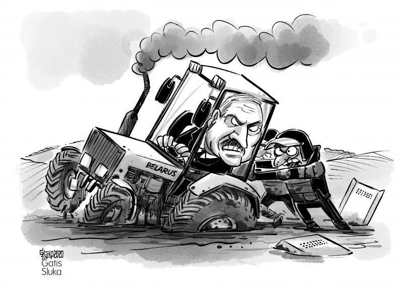 Олександра Лукашенко висміяли в влучних карикатурах — фото