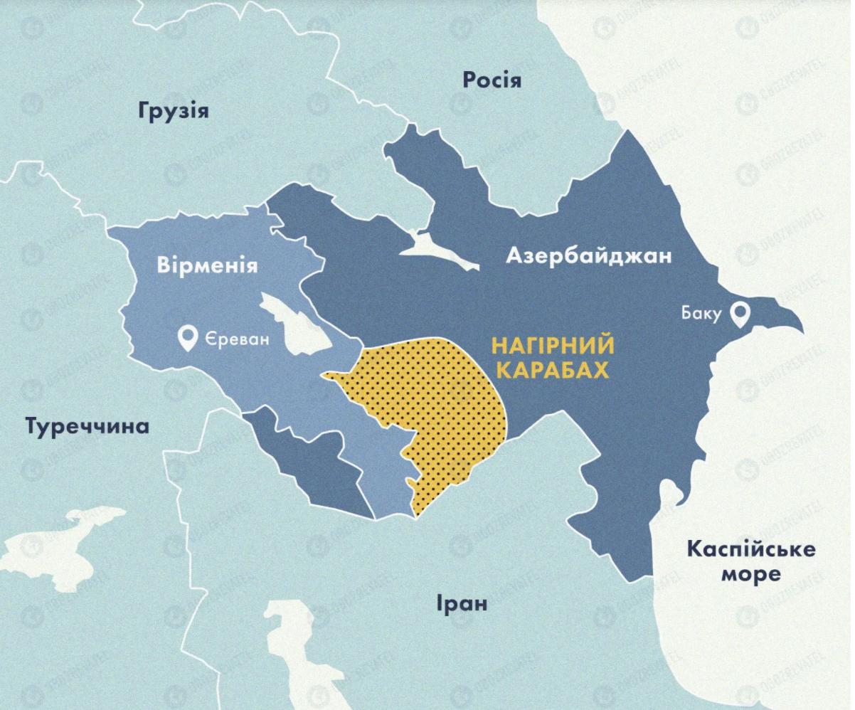 Вірменія заявила про «широкомасштабний наступ» Азербайджану в Карабасі